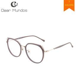5881f43aa quadros de óculos super-luz Desconto CLARO MUNDOS Homens Do Vintage Super  Leve Óculos de