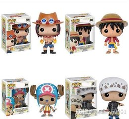 Vinil de uma peça on-line-Mercado de Nova 4 estilos Funko POP Animes: One Piece Trafalgar Law Vinyl Action Figure com caixa # 100 Popular Toy Gify