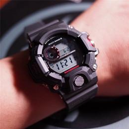 Armeeautouhr online-Neue G Stil Digitaluhr Auto Licht Schock Solar Uhren Datum Kalender Thermometer Kompass LED Digital Military Army Watch Relogio Masculino