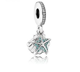 2019 rote distanzperlen für europäische armbänder Für Pandora Sterling Silber Armband Tropical Starfish Dangle Beads Charms Für European Snake Charm Chain Fashion DIY Jewelry