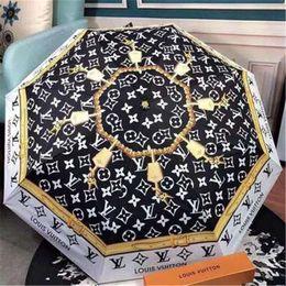 Ombrelli uomini online-Sunny Rain Umbrella Fashion Logo Uomini e donne Ombrelli Sundries House Print Flower New Ombrello 2019 Nuovo