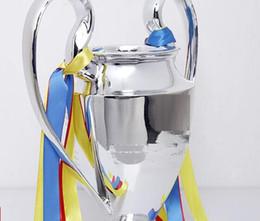 Сбор пластин онлайн-Новый 2019 смола C Лига Trophy Eur Soccer Trophy Футбольные фанаты для коллекций и сувениров с серебряным покрытием 15см 32см 44см полный размер 77см