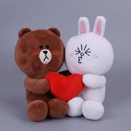 2 adet / çift Kahverengi Ayı Ve Bunny Cony Bebekler Ile Kalp Düğün Hediyesi Için Erkek Ayı Ve Kadın Tavşan Peluş Oyuncaklar Gelin Ve Damat MX190723 Için nereden