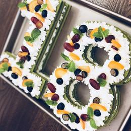 torte numerate Sconti 8/10/12 / 14Inch di cottura Stampi Numero Form Design Mold Decoration Per fondente della torta attrezzi della pasticceria