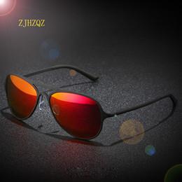 94509f673dc Venta al por mayor Unisex Classic Brand Men Aluminum Sunglasses Women HD  polarizado UV400 Red Blue Mirror Male Driving Gafas de sol Gafas de sol