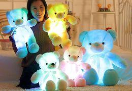 LED Teddy Bear Light Up Blu Rosa Bianco Giallo Peluche 12