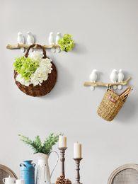 Cappotti da cucina online-Wall Decorations Home Accessories Living Room Hanger Resin Bird key Bedroom kitchen Coat Clothes Towel Hooks Hat Handbag Holder EEA913