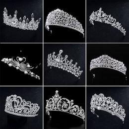 2019 headpiece de noiva vermelho preto Deartiara Silver Cristal Crowns noiva tiara Moda Rainha para o casamento Crown Cabelo Headpiece casamento Jóias Acessórios