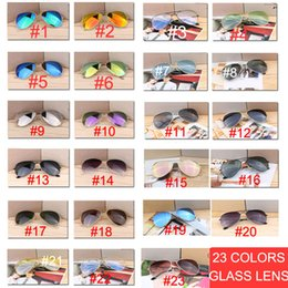 Gafas de sol para el día noche online-Gafas de sol de espejo piloto de calidad de 10 piezas para mujer / hombre, gafas de sol ovaladas de diseñador de marca para mujer, gafas de sol diurnas de día al aire libre vintage