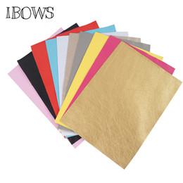 multicolore tessuto di sequin Sconti 10pieces / pack 22cm * 30cm morbida Faux pelle tessuto Fogli -Metallic Foil Tessuto Foglio Materiale Pelle-DIY archi dei capelli
