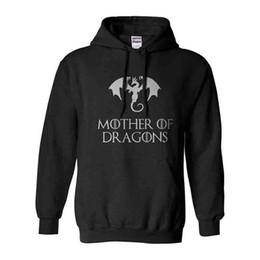 2019 abrigos de dragón Madre del dragón Sudaderas con capucha para mujeres 2019 Primavera otoño Sudadera de manga larga Sudadera con capucha Abrigo Ropa gótica Envío de la gota abrigos de dragón baratos