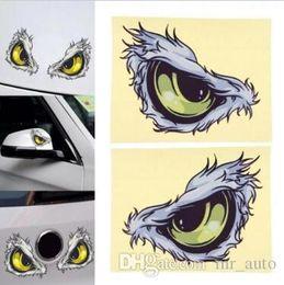 Auto del gatto dell'autoadesivo online-10x8cm 3D Stereo Cat Reflective Adesivi per auto Adesivi per auto Parafango laterale Specchietto retrovisore Windows Decalcomania del vinile Car Styling CCA9430 200 pz