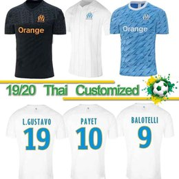 marseille soccer jersey Coupons - Thai 19 20 Olympique De Marseille soccer jersey OM jerseys 2019 2020 maillot de foot PAYET THAUVIN football shirt uniforms men + kids years