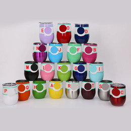 rose mugs wholesale Coupons - 9oz Egg Cups with Lid Vacuum Insulated 304 Stainless Steel Wine Beer Tumbler Rose Gold Thermos Coffee Mugs Water Bottles AC1088