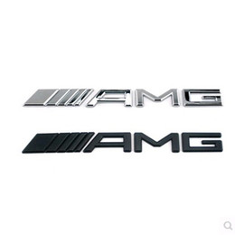Carro cromado preto on-line-10pcs / lot prata Metal 3D Chrome Preto 3M AMG Decal Adesivo Logo Emblema crachá carro para Mercedes CL GL SL ML A B C E S classe Car Styling