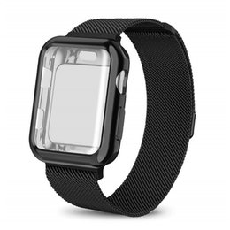 Milanese Loop Sport Wristband para Apple Watch Series 3/2/1 38mm 42mm Banda con estuche Muñequera de malla de acero inoxidable para iwatch desde fabricantes