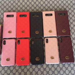 étui de téléphone diy galaxy Promotion Cas pour Samsung Galaxy S7 S8 S9 bord plus S10 5G S10E Famous Brand lettre embossé couverture de téléphone G Pour Samsung Note 5 8 9 10 arrière dur