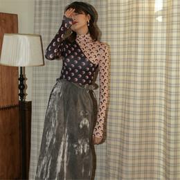 CBAFU concepteur lune imprimer femmes chemises patchwork col roulé vêtements de sous-vêtements de piste dames tops à manches longues P847 ? partir de fabricateur