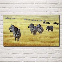 2019 wilde plakate marschieren zebra savanne tierwelt tiere natur wild wohnzimmer dekor hause wandkunst dekor holzrahmen stoff poster KG990 günstig wilde plakate