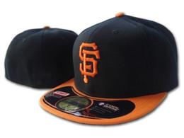 Cappelli montati arancione online-Giants On Field Black Orange Fitted Hats Gorras Bones Masculino Flat Tesa Cappellino SF Snapback Cap Chapeau Homme Mens Womens Sports Gorras