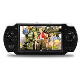 Console de jogos portátil de 4,3 polegadas 8gb on-line-Handheld Game Console Jogos de 4.3 Polegada Tela Grande 8 GB Sistema Portátil Video Games Player Embutido 10000 Clássicos Videogames para o Presente de Aniversário