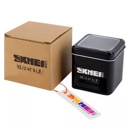 SKMEI Original Marque Montre Boîte Cadeau Boîte Livraison Gratuite Dropshipping En Métal Et Carton Avec SKMEI LOGO ? partir de fabricateur