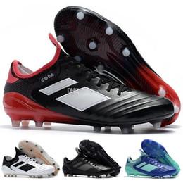 Nuevas zapatillas de fútbol spike online-Top Nuevo Copa Tango 18.1 Fg Calzado de fútbol para hombre Soft Spike Calzado de fútbol Negro Blanco Deportes Fútbol Tacos Zapatillas de deporte Tamaño 39-46