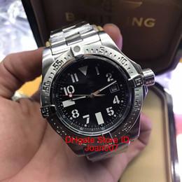 Melhor pulseira de relógio de aço inoxidável on-line-New Avenger II Seawolf 45mm A1733110 / I519 / 169A Mostrador Amarelo Relógio Automático dos homens de Luxo Relógios Pulseira De Aço Inoxidável Melhor Relógio de Qualidade