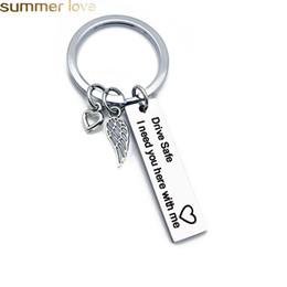 personifizieren sie schlüsselketten Rabatt Personalized Engraved Keychain Drive Safe Ich brauche Sie hier bei mir