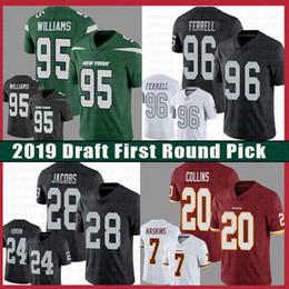 Washington nueva jersey online-New York Jersey Jets 95 Quinnen Williams Oakland 96 Clelin Ferrell Raiders Abram 28 Jacobs Washington 7 Haskins 20 Landon Collins Redskins