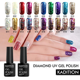 gel de gel gel uv Desconto KADITION 8ml híbrido Vernizes Diamante Gel UV nana nomes polonês Semi Permanente Vernis Semi permanant Led Lamp Shimmer Gel-laca