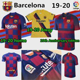 2019 20 Messi La Liga Camisetas de fútbol Hombre 9 SUAREZ 7 COUTINHO 11 DEMBELE 4 Camiseta de fútbol RAKITIC hogar lejos Tercer traje 20 Aniversario desde fabricantes