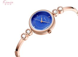 2019 марка kimio KIMIO Colorful Quartz Diamond Watch Alloy Rose Gold Bracelet Watch Women Dress Woman Watches  Women's Watches K6270 дешево марка kimio