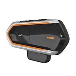 QTBE6 Casco moto Bluetooth Walkie Talkie Intercom Radio FM con cancellazione del rumore DSP Elaborazione del suono del vento cheap motorcycle intercoms da citofoni motociclistici fornitori