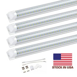 shop lighting design Promo Codes - 8ft led tube lights V-Shape 8 foot design shop LED lights fixture 2ft 3ft 4ft 5ft 6ft Cooler Door Freezer lighting fluorescent Lamps