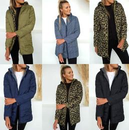 Revestimento reversível on-line-Reversível Mulheres Para baixo parkas inverno Designer grossas Leopardos Coats Windbreaker quentes
