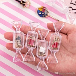 Mini caixas para doces on-line-Rosa sacos de material Sugao forma doces transparente caixa de armazenamento mini ins brincos viajar mulheres anel de jóias portáteis mínimo de embalagens por atacado 2020
