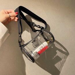 transparente kreuzschultertasche Rabatt Transparent Klar PVC gedruckt Frauen Jelly Taschen Mini Designer-Schulter-Kurier-Beutel-Kreuz-Körper für Frauen Geldbörsen Clutch