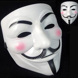 Decorazioni di pallacanestro di valentine online-5000 pz V Maschera Maschere mascherate per Vendetta Anonimo Palloncino San Valentino Decorazione per feste Full Face Halloween Super Scary Party Mask