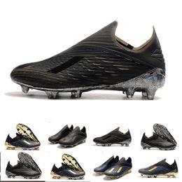 футбол высоких топов Скидка New Mens High Tops бутсы X 19+ Фирма Ground Бутсы X 19+ Speedmesh X19 Speed Mesh FG футбол обувь 39-45