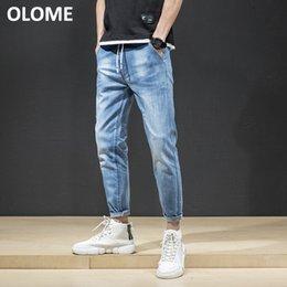 Sommer 2019 neue Jeans Männer schlanke Joker Füße Stretch Wash Jeans koreanische Mode Jugend Hosen