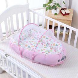 2019 blaue wiege Rosa Blau Baby Nest Bett Tragbare Krippe Reisebett Säuglingskleinkind Baumwolle Wiege Für Neugeborene Baby Bassinet Bumper günstig blaue wiege