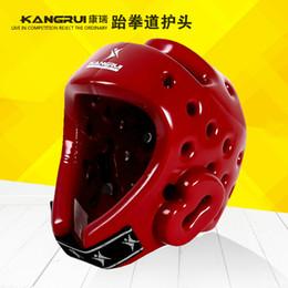 weibliche helme Rabatt Taekwondo Helm Box Kopfbedeckung Sanda Muay Thai Karate KickBoxing Helme Kopfschutz Protector Männlich Weiblich Kids Protection Gear