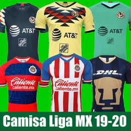 2019 camisetas de club america LIGA MX 2019 20 Club America Soccer Jerseys 2020 Club de Cuervos Local Visitante Tercera UNAM Guadalajara Chivas kit Jersey 19 20 Camisetas de fútbol camisetas de club america baratos