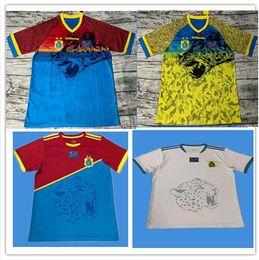 uniformes de equipo de futbol Rebajas 19 20 camisetas de fútbol del Congo 2019 2020 Camiseta del equipo de fútbol local de la Copa del Congo Camiseta del equipo nacional del Congo Camiseta de fútbol de manga corta de la Copa Africana del Congo