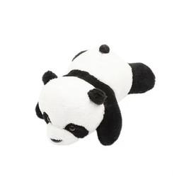 Panda Broche Crouching Panda Cartoon Doll Pin Plush bonito boneca macia Sprouting pano Art de