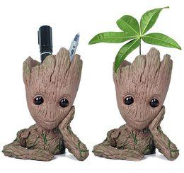 2019 carruseles de juguete Guardianes de la Galaxia envase de la pluma 15cm bebé Ents Grout Figura juguete Maceta Flor Pen Pot titular de regalo de Navidad