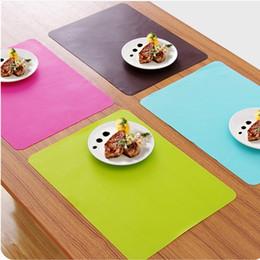 dicke silikonmatte Rabatt Heiße Silikon-Küchentisch-Matten-starke rutschfeste heiße Matten-Antihaft-Tischset-Küchen-Gebäck-Backformen-Matten-Ofen-Wärmedämmungs-Auflage
