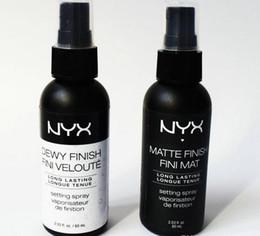 Ml de spray on-line-Acabamento Dewy NYX Acabamento Finew Finish NYO Acabamento Dewy Finou Veloute Acabamento Fosco Maquiagem Setting Spray de longa duração Spray de Fixação 60 ML