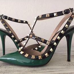 fashionville * envío gratis! U409 40/41/34 CUERO ORIGINAL v TALONER STRAPPY HEELS zapatos diseñador de lujo runway celeb fashion women 2019 desde fabricantes
